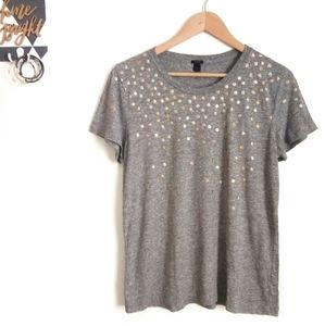 J.Crew Metallic Dots Short Sleeved Tee
